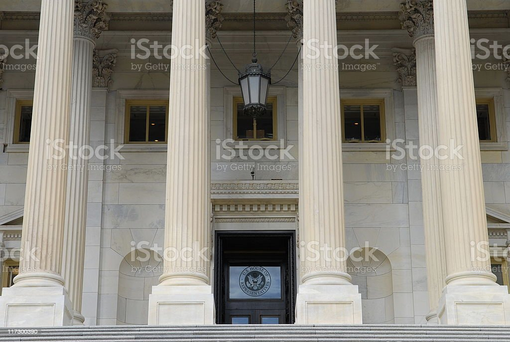 Entrance to House of Representatives stock photo