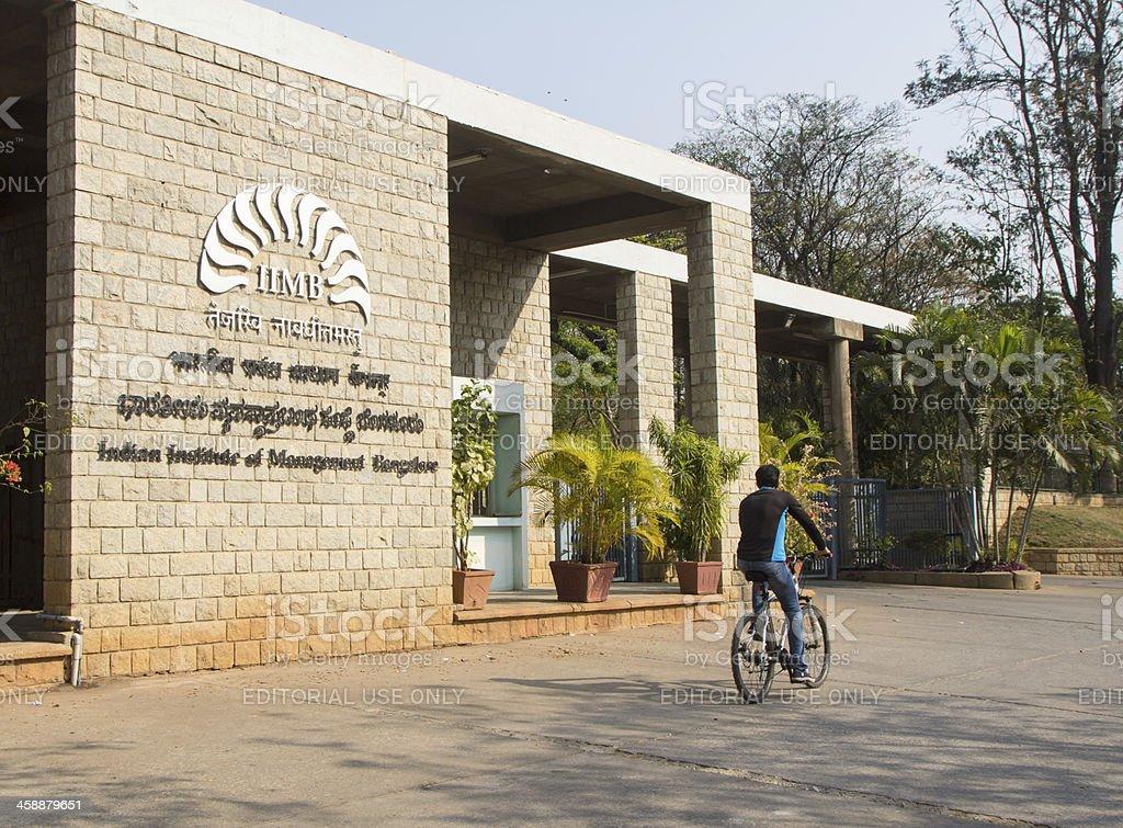 Entrance to IIM Bangalore royalty-free stock photo