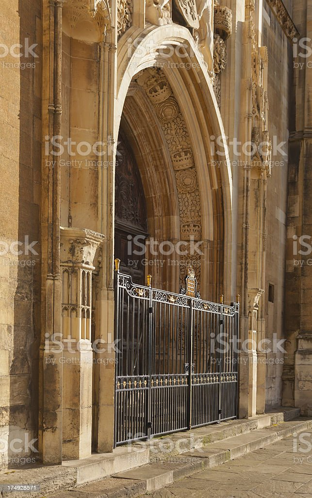 Entrance to King's College Chapel royalty-free stock photo