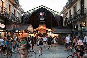 Entrance to La Boqueria, marketplace in old part of Barcelona