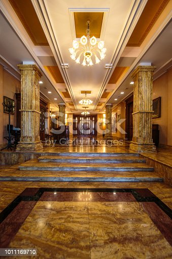 Entrance hall to luxury interior.