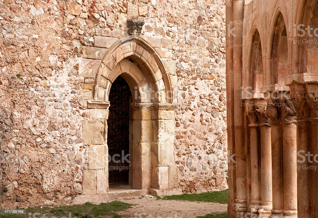 Entrance to medieval Chapele royalty-free stock photo
