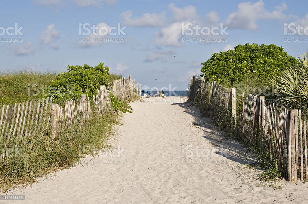 Entrance to Miami Beach royalty-free stock photo