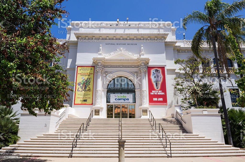 Entrance to Natural History Museum at Balboa Park royalty-free stock photo