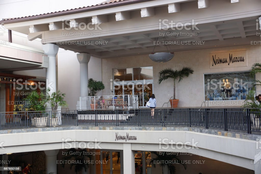 Entrance to Neiman Marcus at the Ala Moana Center stock photo