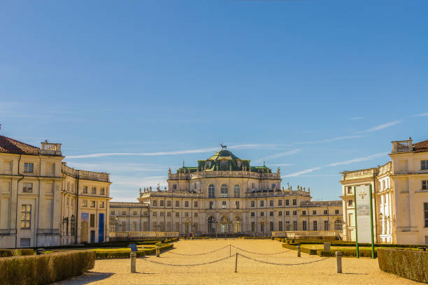 Entrance to Palazzina di Caccia of Stupinigi (Turin, Piedmont, Italy) stock photo