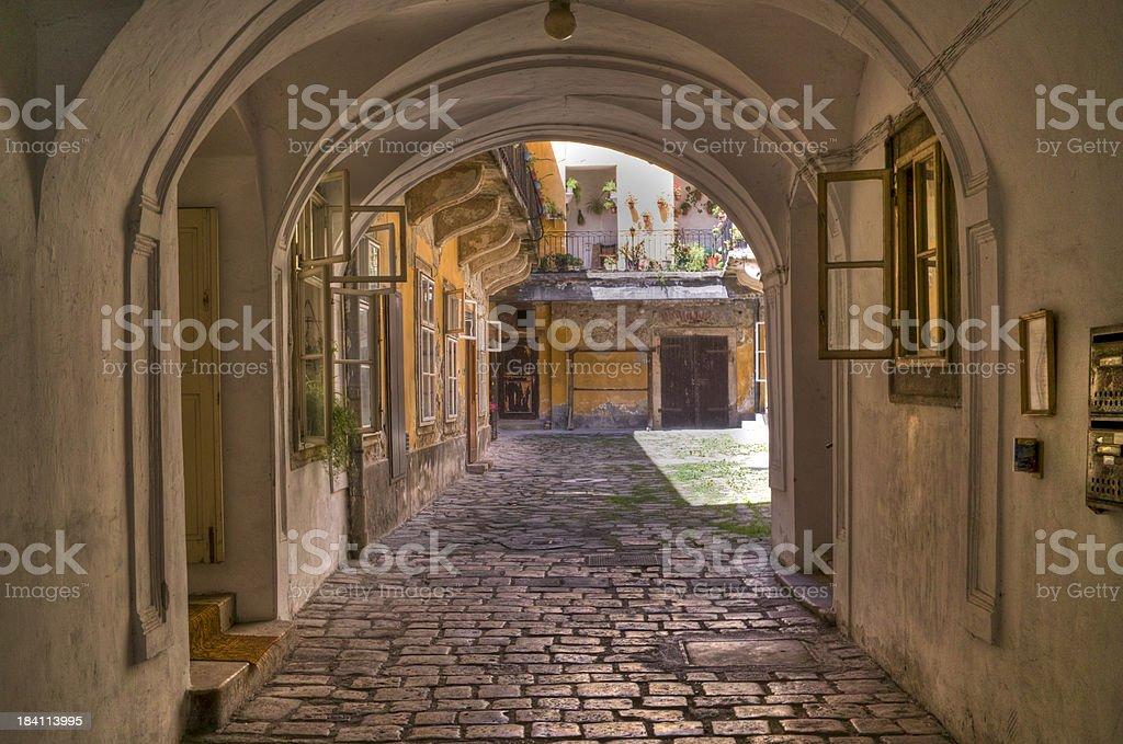 Entrance to patio royalty-free stock photo