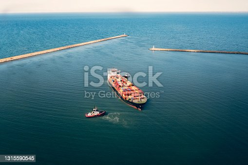istock Entrance to port. 1315590545