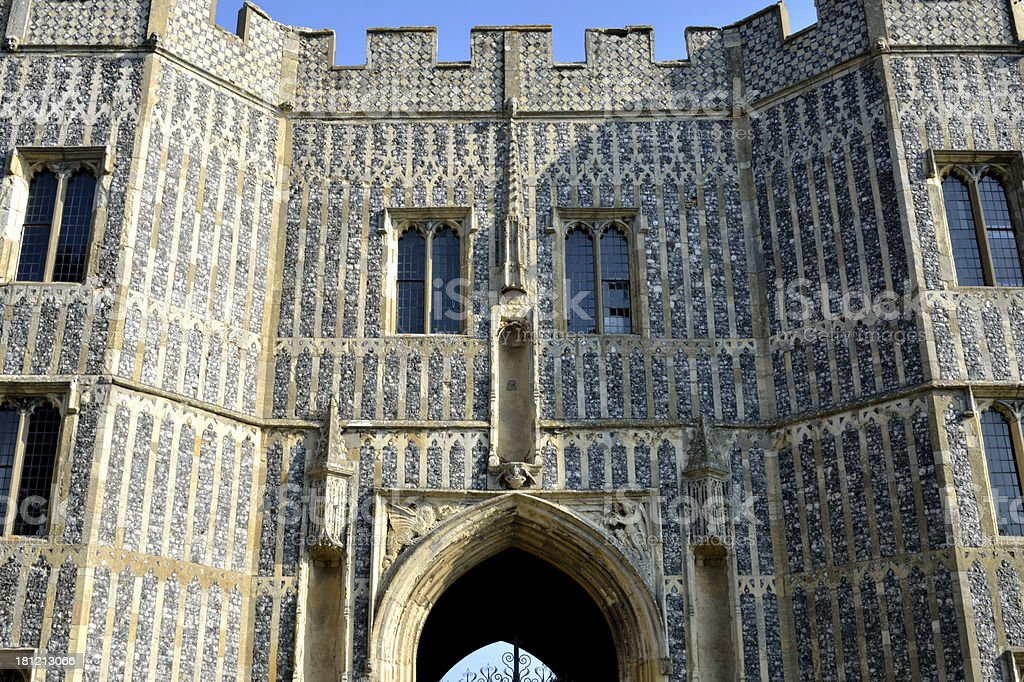 Entrance to Priory royalty-free stock photo