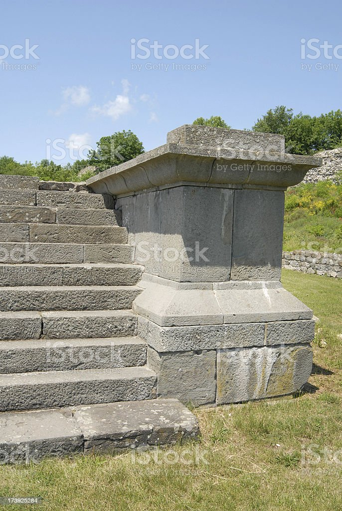 entrance to Roman temple royalty-free stock photo