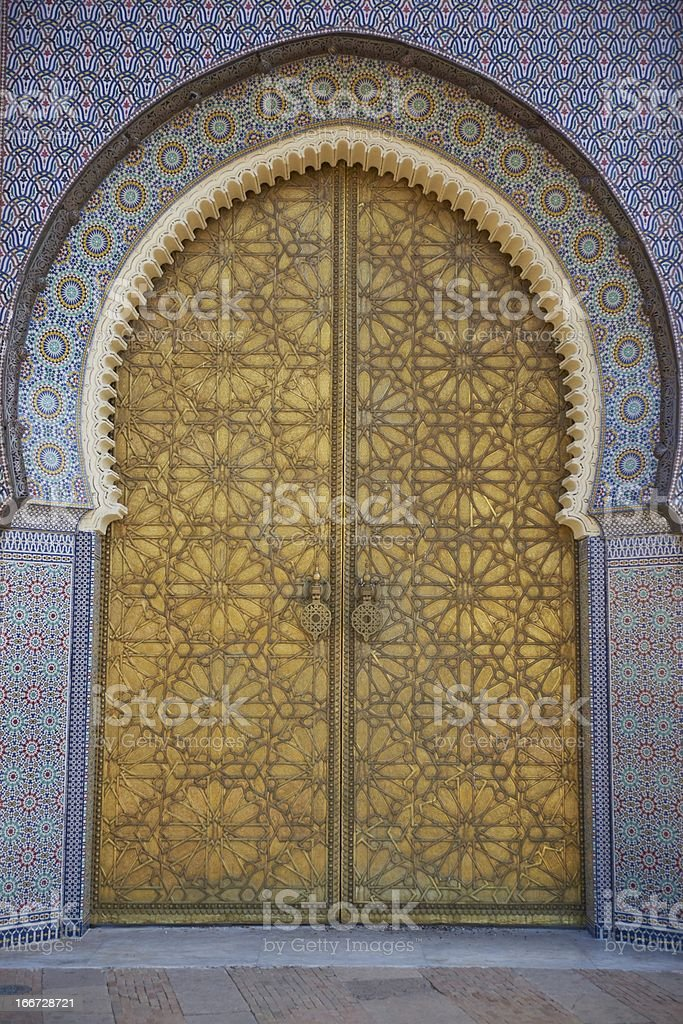 Entrance to Royal Palace royalty-free stock photo
