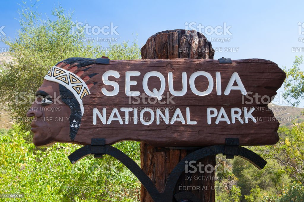 Entrance To Sequoia National Park On Generals Highway In