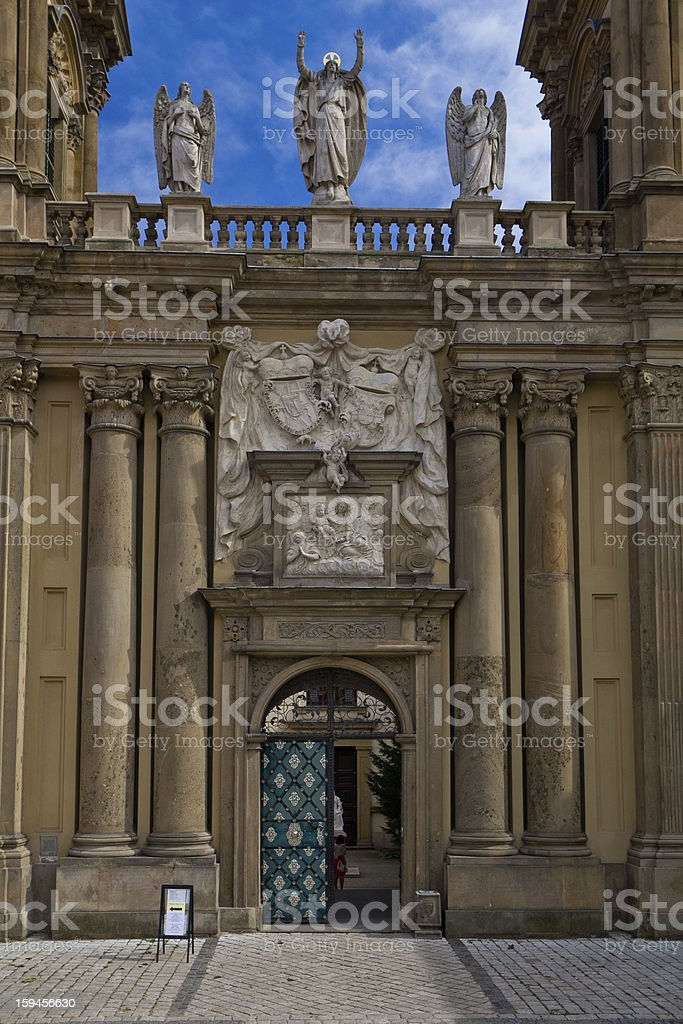 Entrance to St. Anne´s Church in Mikulov royalty-free stock photo