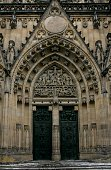 Cathedral of San Vito's entrance, Prague,  Czech Republic