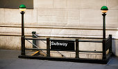 istock Entrance to subway station in downtown New York. 1049274526