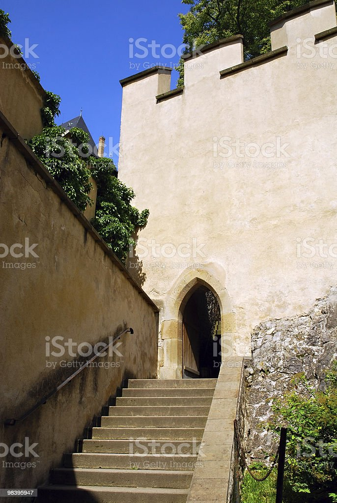 Entrance to the castle royalty-free stock photo