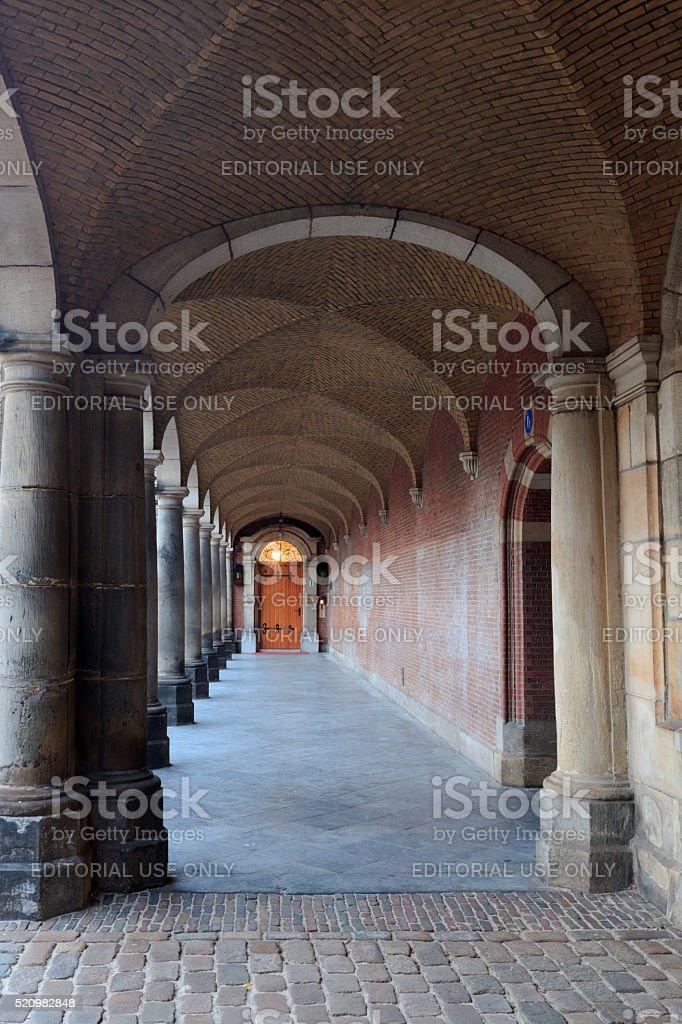entrance to the Dutch House of Representatives stock photo