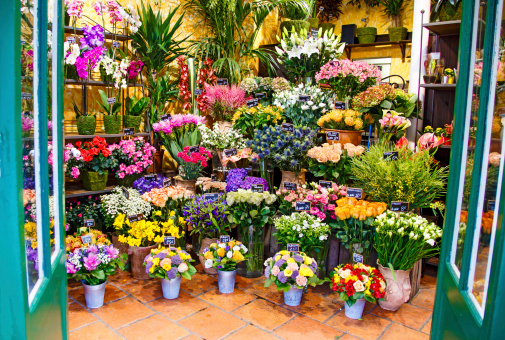 Entrance to the flower shop