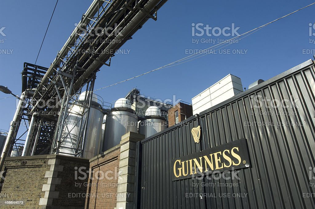 Entrance to the Guinness factory in Dublin Ireland stock photo
