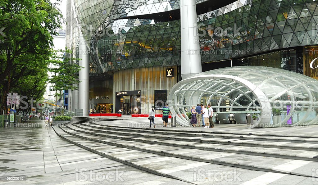 Entrance to the Ion Orchard Mall, Singapore royalty-free stock photo