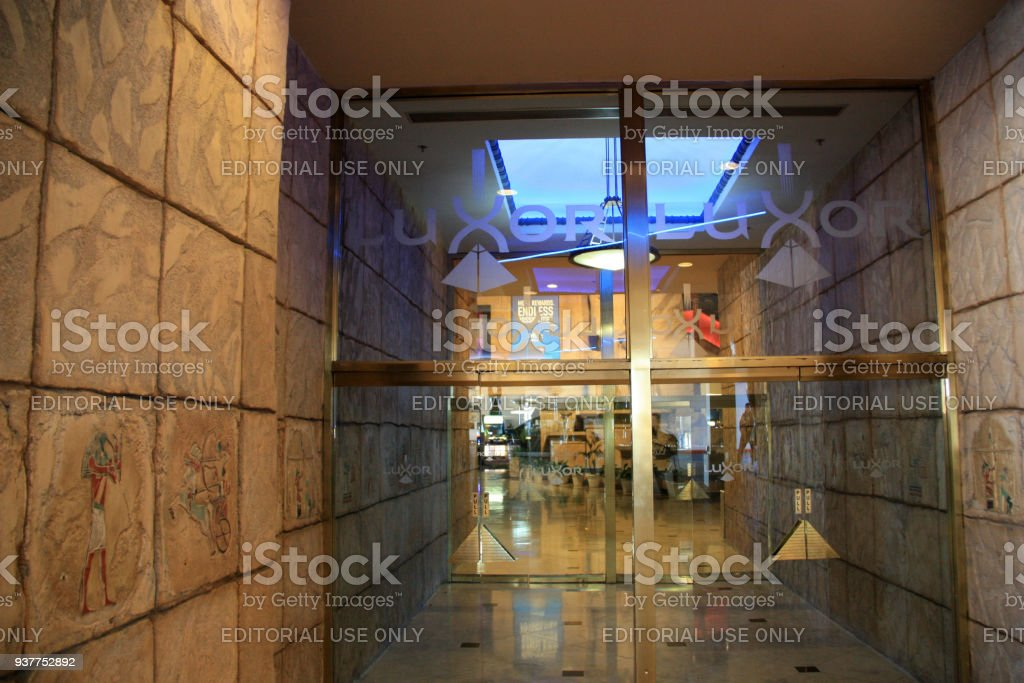 Entrance to the Luxor Las Vegas, Las Vegas, NV stock photo