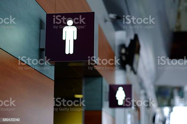 Entrance to the male and female toilet sign in airport picture id530420240?b=1&k=6&m=530420240&s=612x612&h=drlkem7utg7oupqbcynqtnb9ay jgvdi6c6l4 zwy2s=