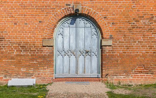 Entrance to the Marien church in Boizenburg