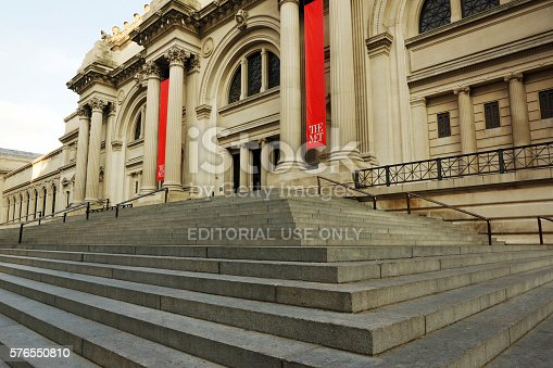 New York, NY, USA - July 13, 2016. Entrance to the Metropolitan Museum of Art in New York City.
