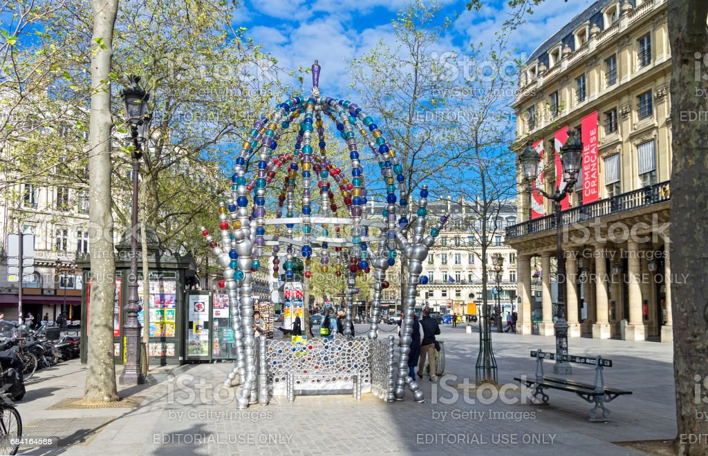 Entrance to the metro station. Paris, France. stock photo