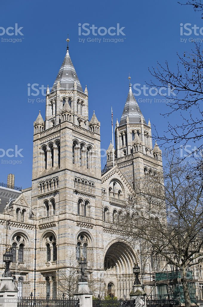 Entrance to the national history museum in London royalty-free stock photo