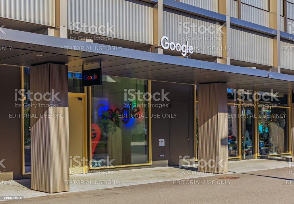 google company office. Entrance To The Office Of Google Company In Zurich, Switzerland Royalty-free Stock