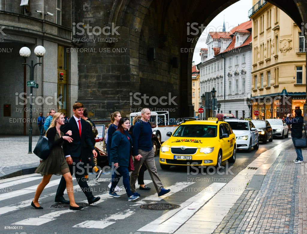 Entrance to the old town of Prague stock photo