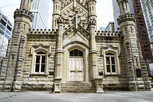 Entrance to the Old Water Tower, Michigan Avenue, Chicago