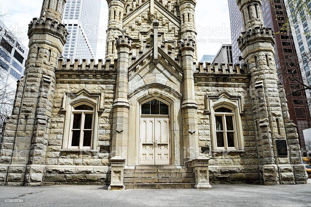 Entrée de la vieille ville de Water Tower, Michigan Avenue, Chicago - Photo