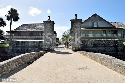 Historic entrance to the oldest city in the USA at St. Augustine, Florida