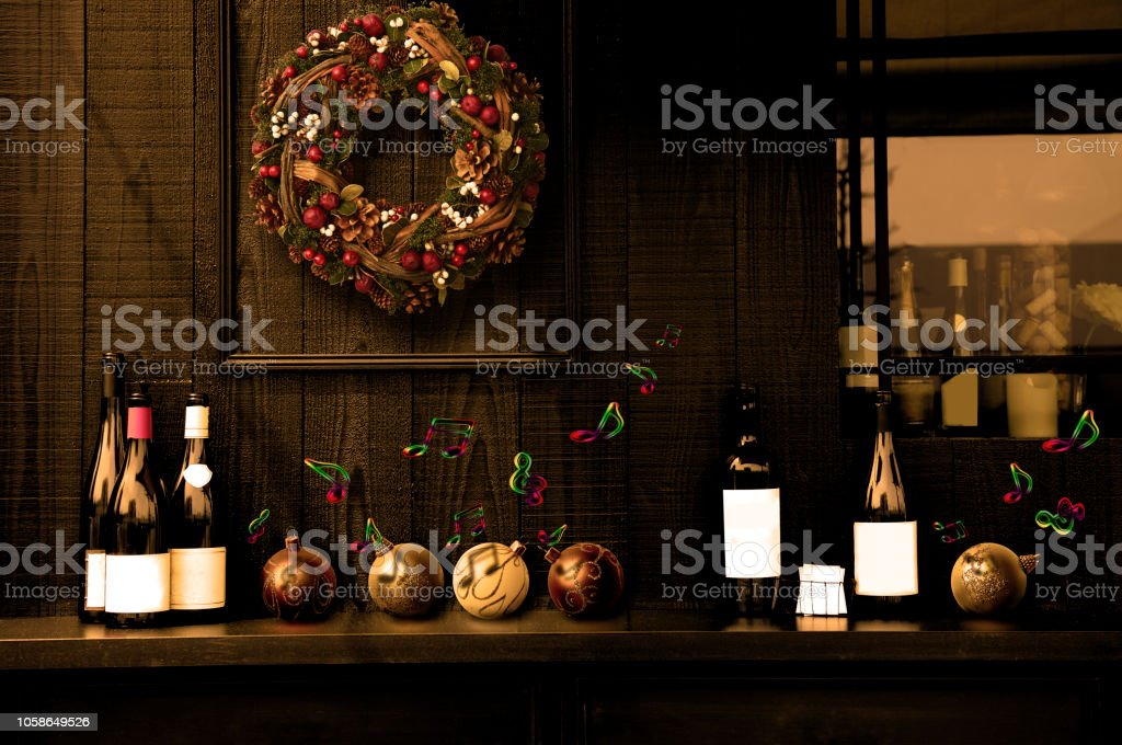 Entrance To The Restaurant With Christmas Decoration Stock Photo Download Image Now Istock