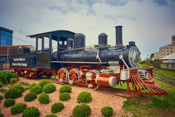 Eintritt in die Fahrt Maria Fumaça Train in der Serra Gaúcha. – Foto