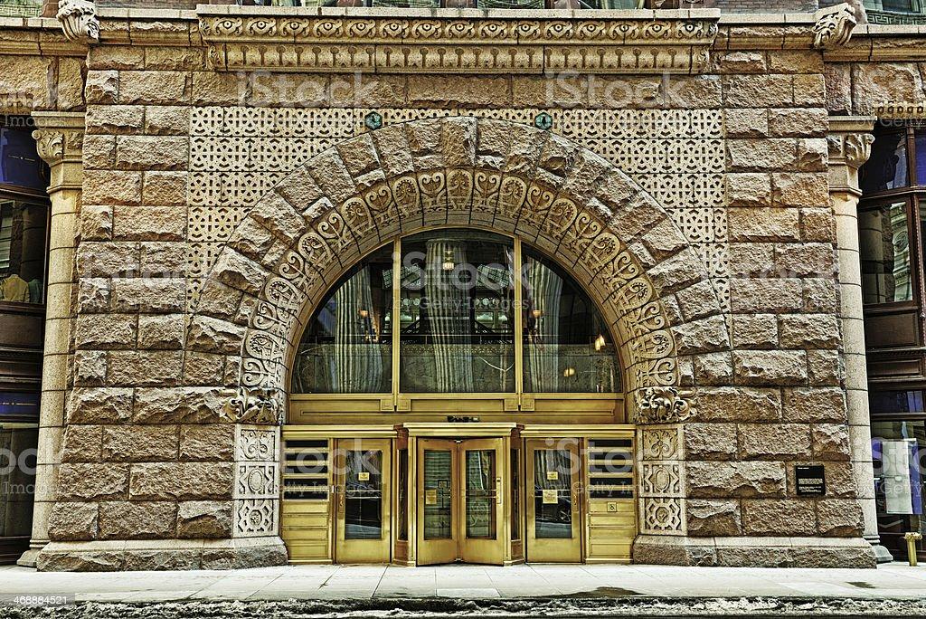Entrée de The Rookery, du centre-ville de Chicago - Photo
