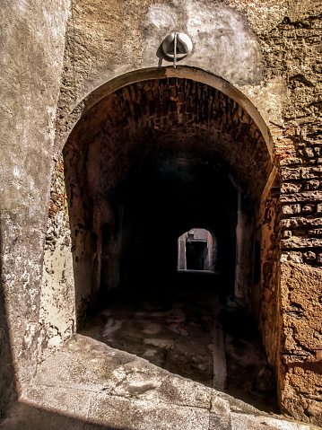 Entrance To The Underground Medieval Street In Cervera Town Stock Photo - Download Image Now