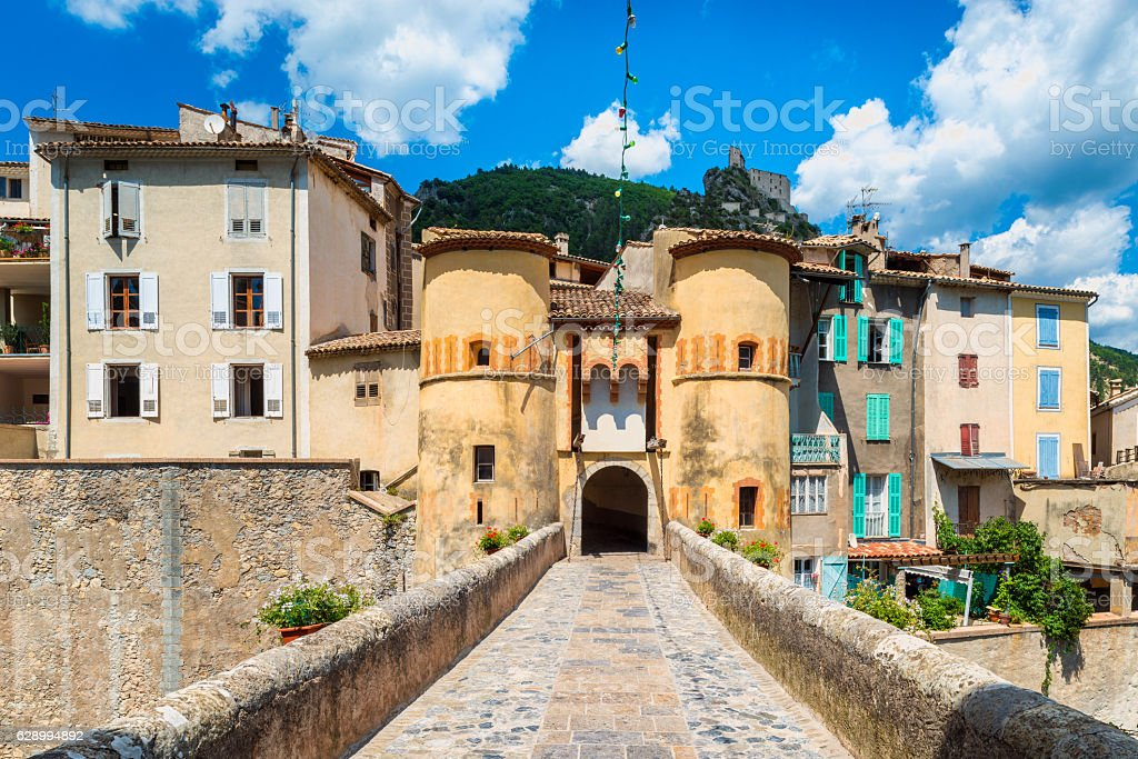 Entrance to town of Entrevaux France - Photo