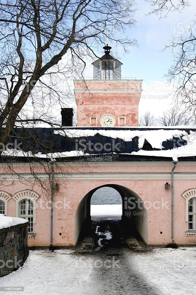 Entrance to Viapori in Helsinki royalty-free stock photo