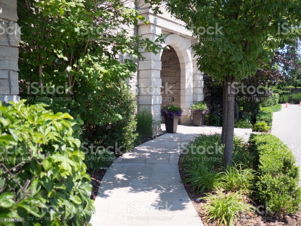 Entrance to Winery in Niagara On the Lake, Canada, Ontario stock photo