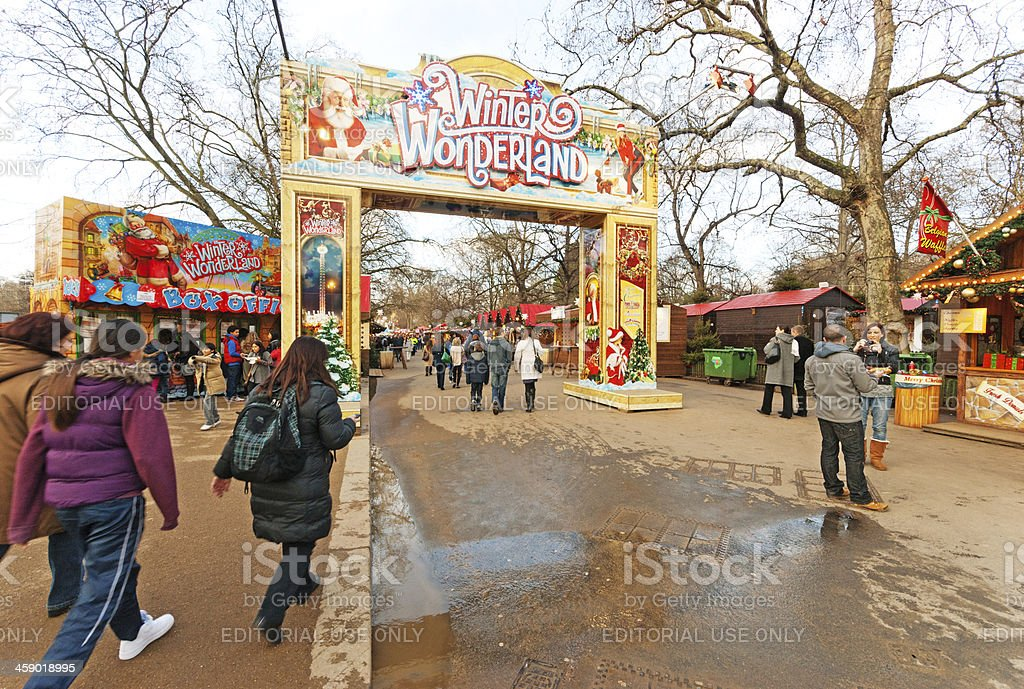 Entrance to Winter Wonderland royalty-free stock photo
