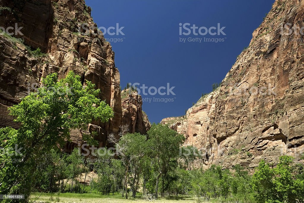 Entrance to Zion Canyon royalty-free stock photo