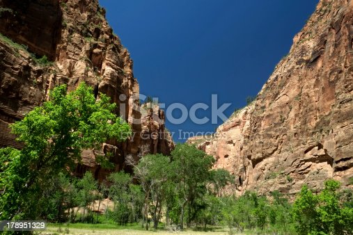 Entrance to Zion Canyon National Park