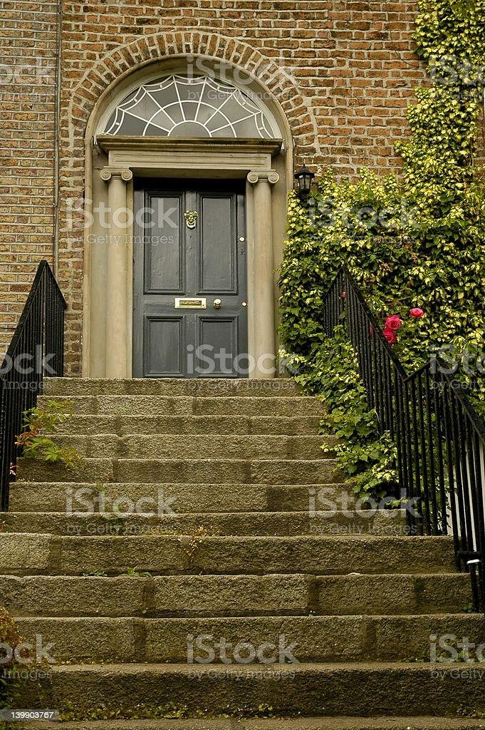Entrance upstairs royalty-free stock photo