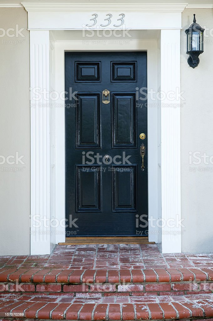 Entrance With Front Door royalty-free stock photo