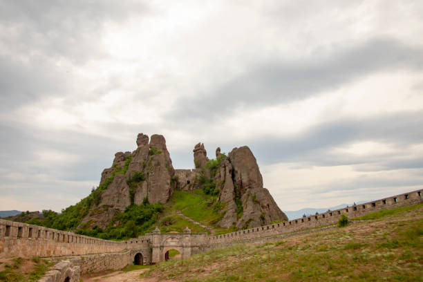 Entrance with gate and walls of Belogradchik stock photo