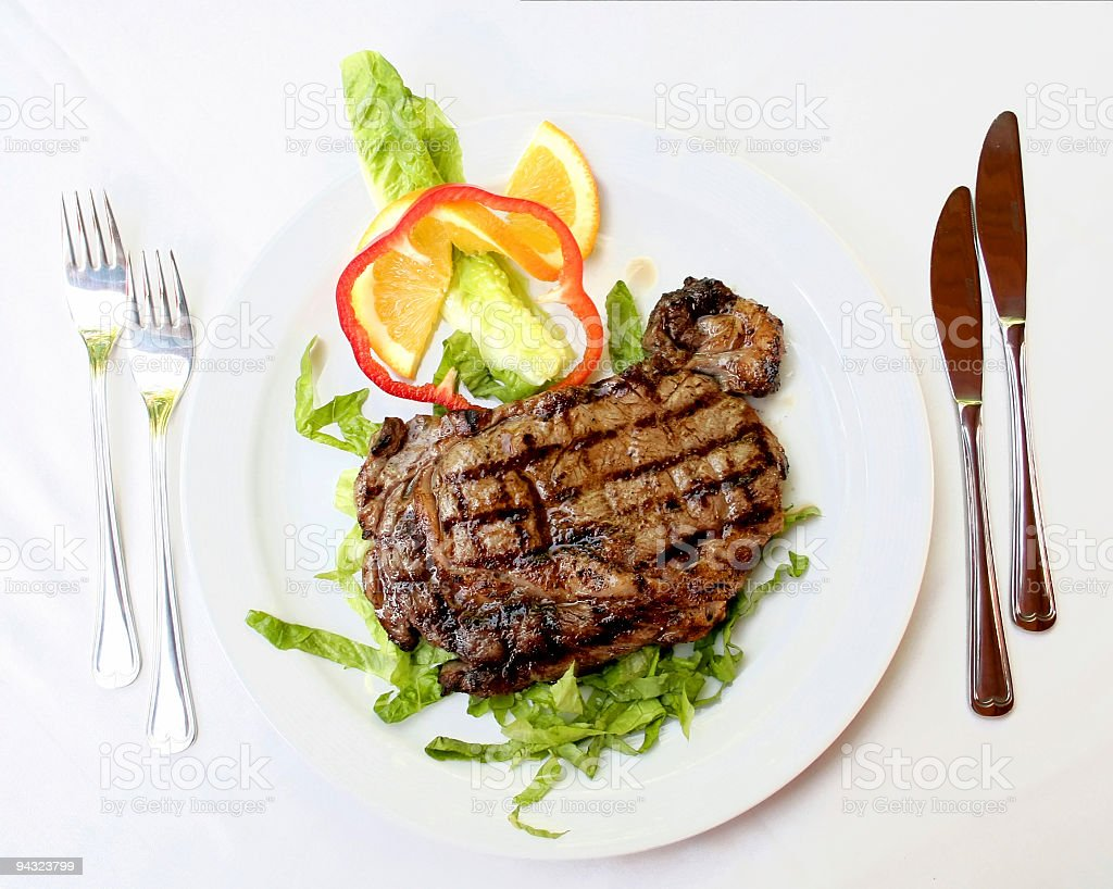Entrecote steak royalty-free stock photo
