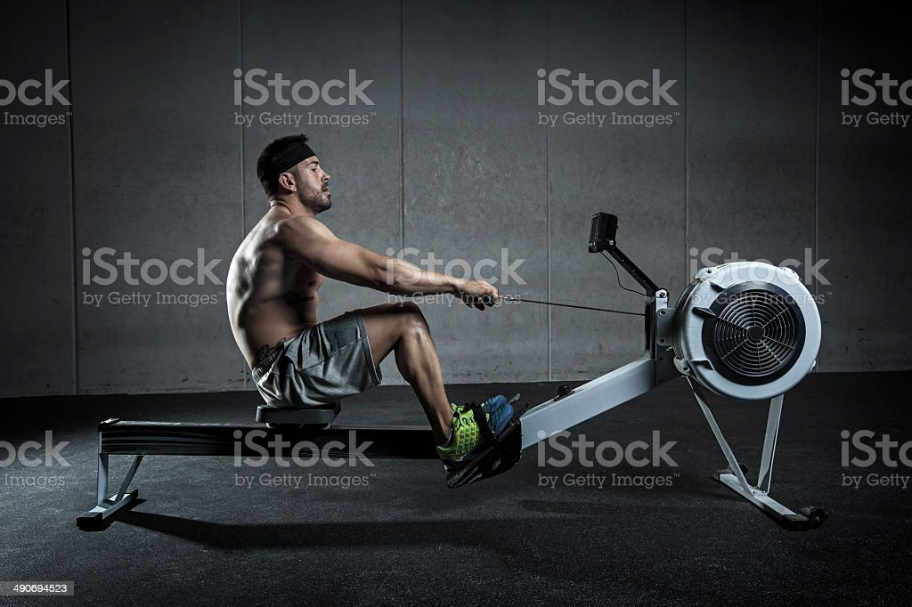 entreno de remo stock photo